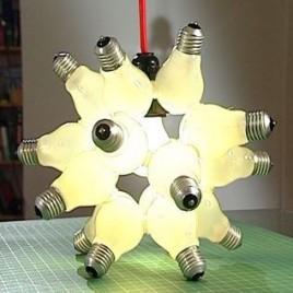 Русский свет: оригинальный светильник в виде лампочки